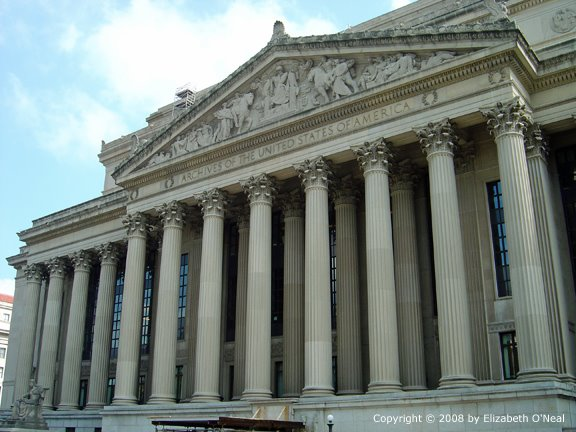 Image of The National Archives in Washington, DC