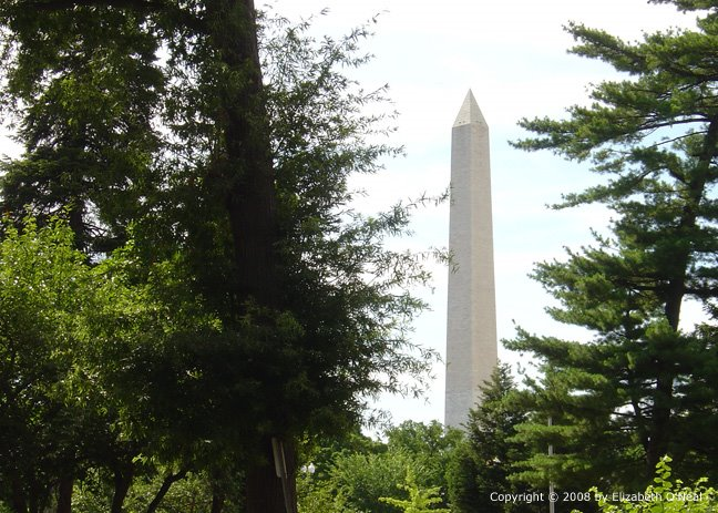 The Washington Monument, as seen from the DAR Buildings