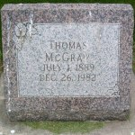 Tombstone Tuesday: Thomas MCGRAW