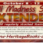 Heritage Books Fall Madness Sale Extended