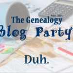 Join the May 2016 Genealogy Blog Party!