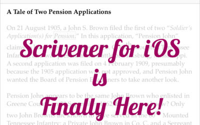 It's Here: Scrivener for iOS!