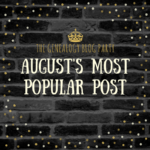 Congrats to the August Genealogy Blog Party Top Vote-Getter!