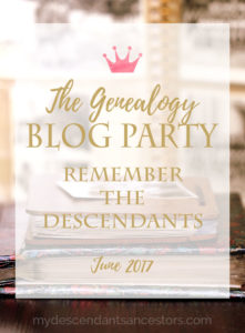 The Genealogy Blog Party - June 2017 - Pinnable