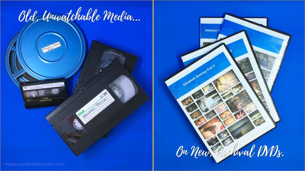 Old Videos Have Been Digitized Onto DVDs