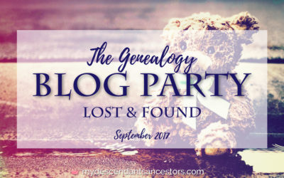 The September Genealogy Blog Party: Lost & Found