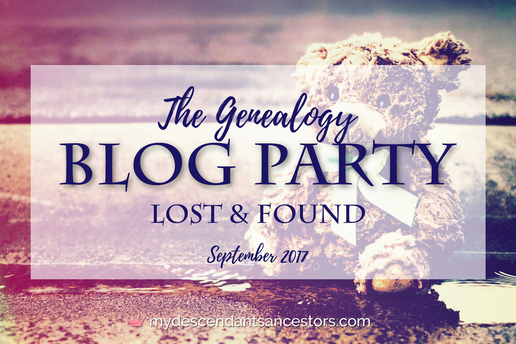 Image for the September Genealogy Blog Party: Lost & Found