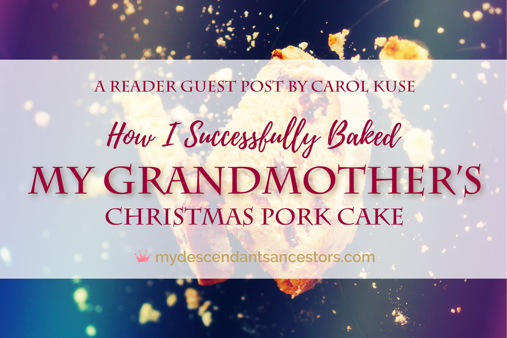 How I Successfully Baked my Grandmother's Pork Cake
