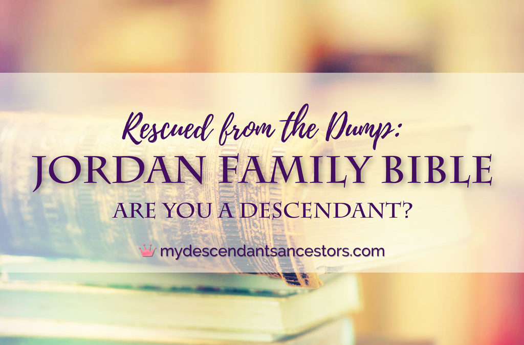 Rescued from the Dump: The Jordan Bible