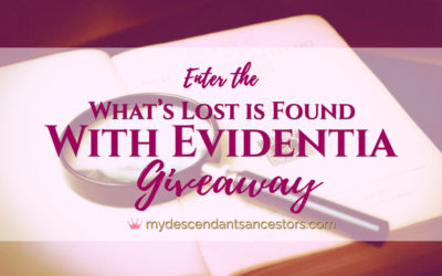 "Enter the ""What's Lost is Found with Evidentia"" Giveaway!"