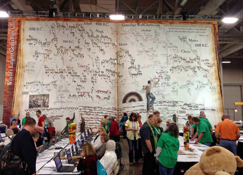 See the world's largest genealogy chart at RootsTech