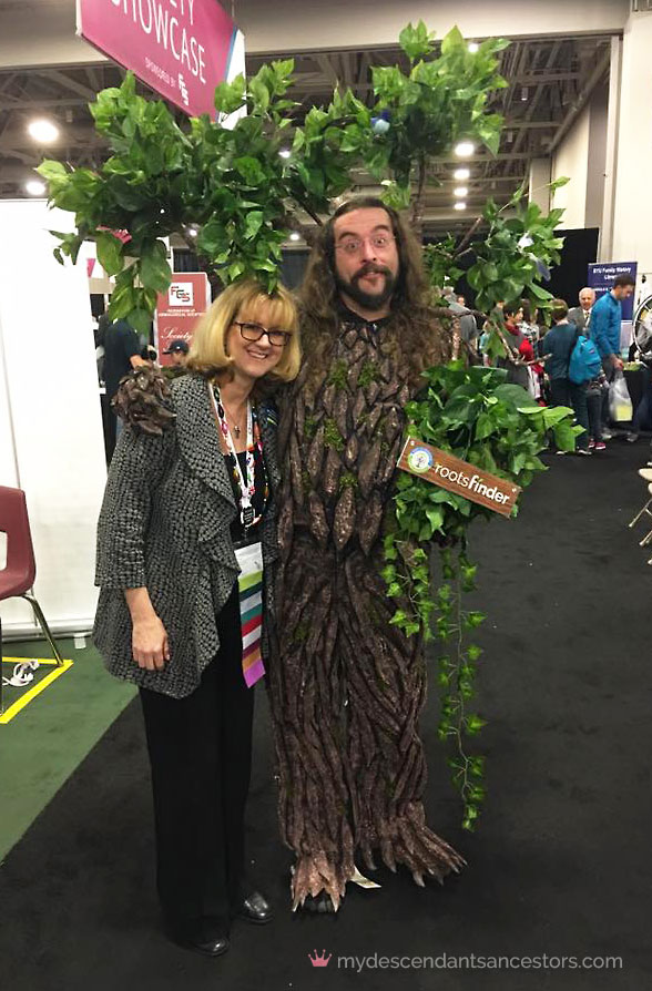 This is me with the Roots Finder Tree Guy.