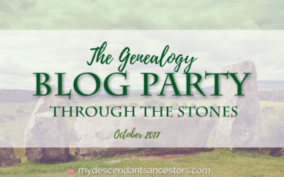 The October Genealogy Blog Party: Through the Stones