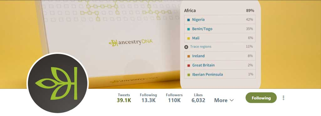 Ancestry Twitter Account